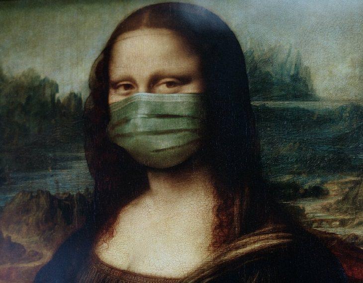 קטע בחרוזים עם מסר מרגש לתקופת הקורונה: המונה ליזה עם מסכת פנים