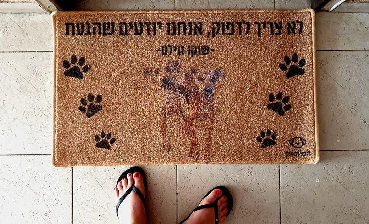 שלטים מצחיקים: שטיח כניסה