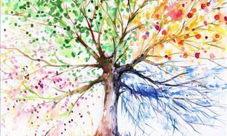 מבחן אישיות: ציור של עץ צבעוני