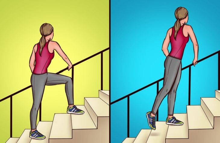 שיפור בריאות הברכיים: תרגיל לברכיים ליד מדרגות