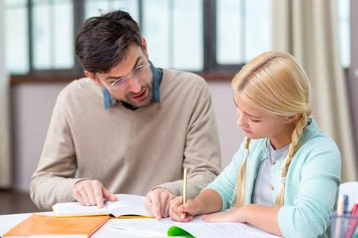 על חשיבות המורה הפרטי: ילדה ומורה בשיעור פרטי