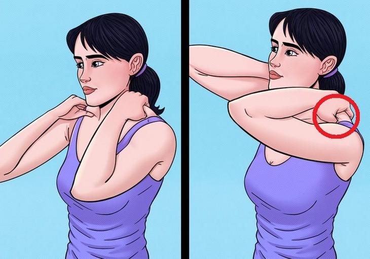 תרגילים לשחרור והרגעת כתפיים: שחרור שרירי הטרפז