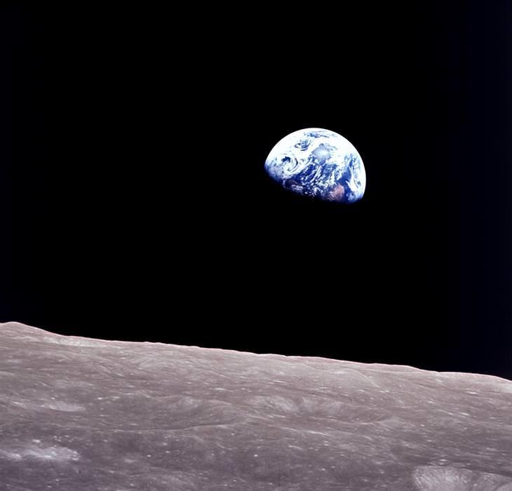 """תמונות של נאס""""א: תמונה של כדור הארץ, שצולמה מהירח"""