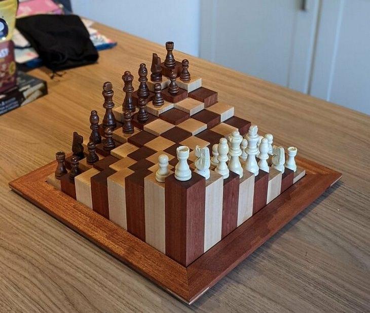 יצירות ורהיטים נהדרים מעץ: לוח שח מט