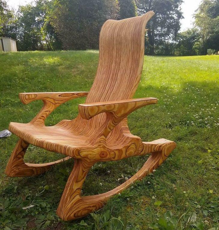 יצירות ורהיטים נהדרים מעץ: כיסא