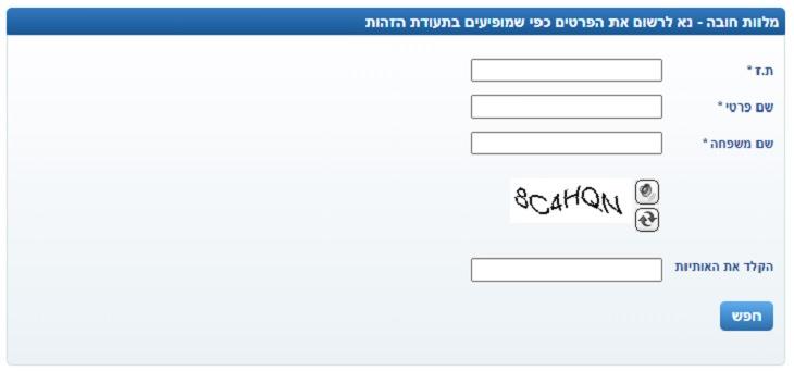 בדיקת זכאות לפדיון מלוות חובה של בנק ישראל