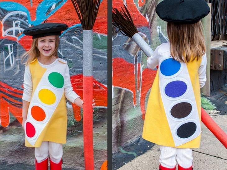 אוסף לפורים: תחפושת לילדה של ציירת