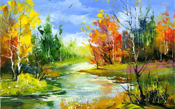 מבחן אישיות: ציור של נהר ביער