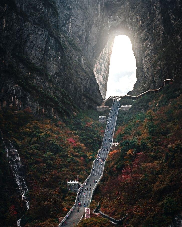 תמונות מהמזרח הרחוק: הר טיאנמין בסין