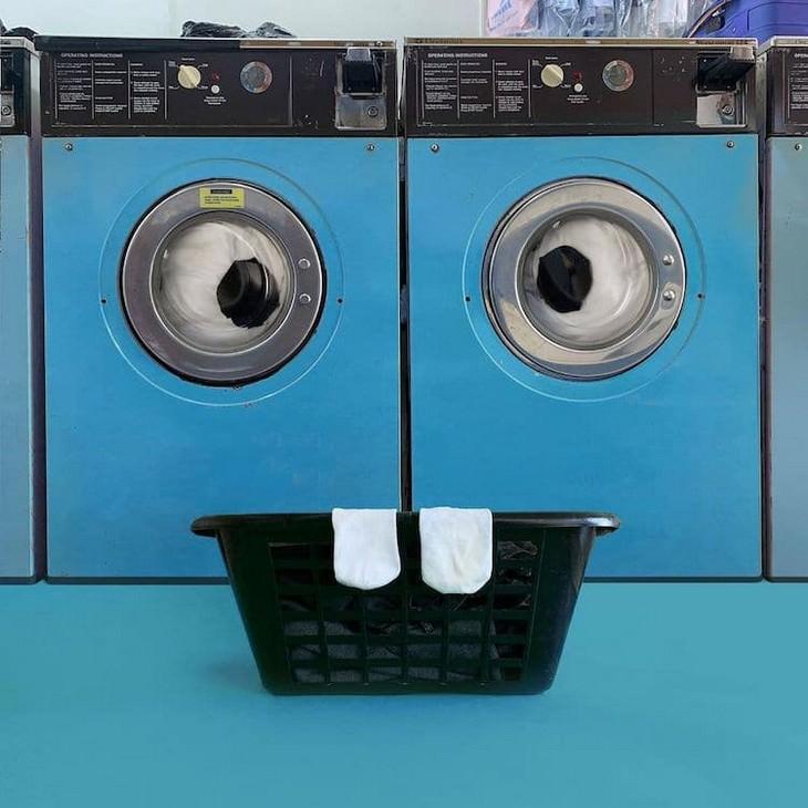 אומנות משעשעת: מכונות כביסה