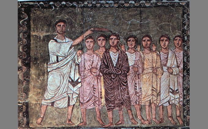 מסלול מכשולים: ציור של המלכת שאול