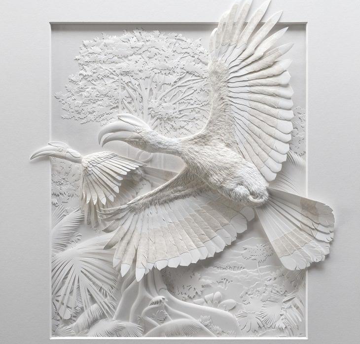 פסלי נייר של חיות: ציפורים מועפפות