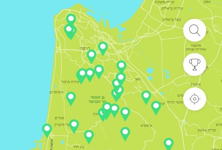 מפה שימושית לטיול באתרי הטבע בישראל