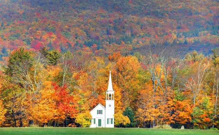12 האזורים של ארצות הברית: ניו המפשייר בסתיו
