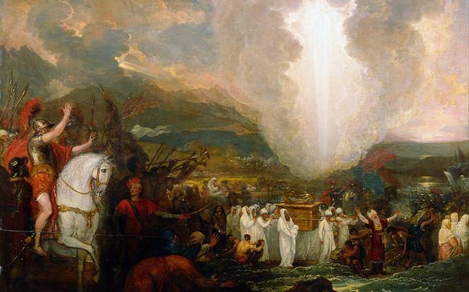 """מבחן היכרות עם גיבורי התנ""""ך: ציור של בני ישראל נכנסים לארץ"""