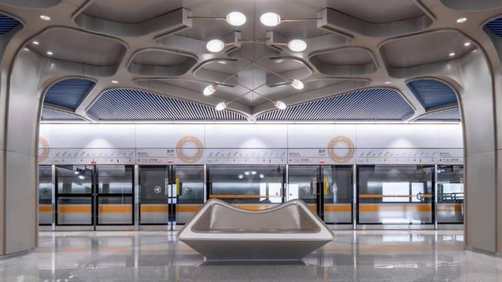 קו מטרו מהפכני ומרשים בסין: תחנת רכבת