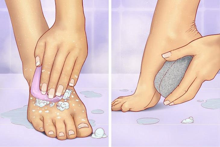 איברים שלא שוטפים נכון: שטיפת כפות רגליים