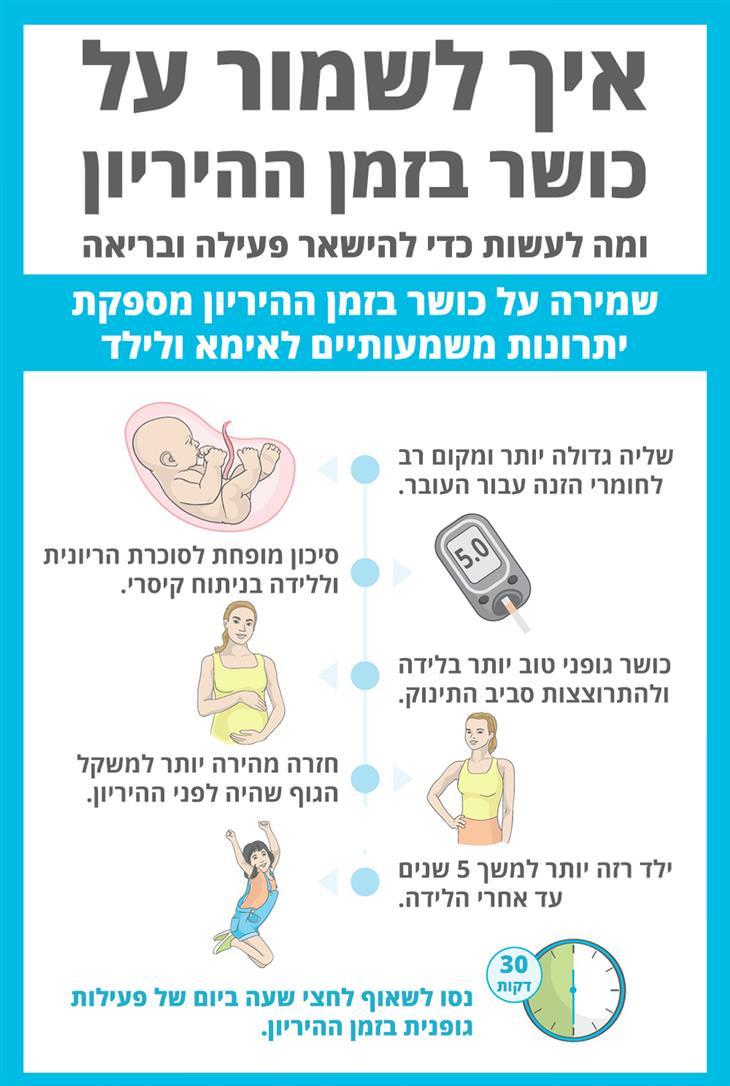 איך לשמור על כושר בהיריון