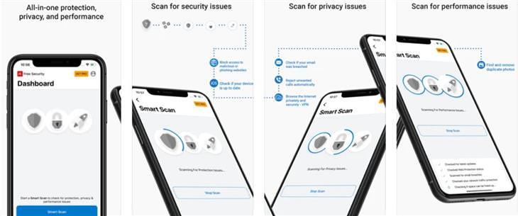 אנטיוירוסים לסלולר: צילומי מסך של avira לאייפון