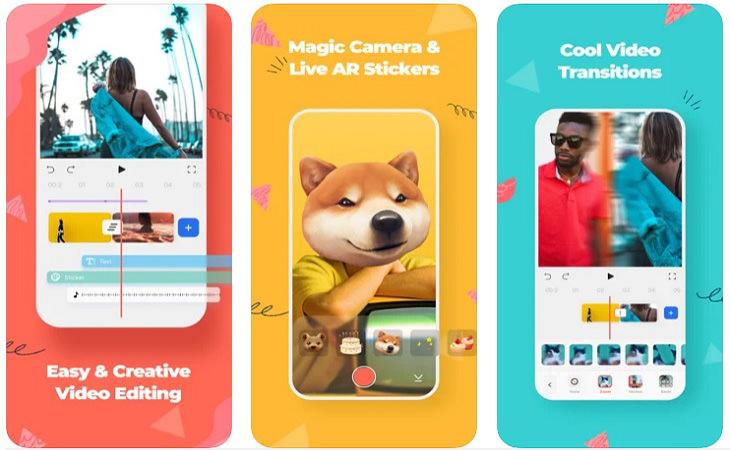 אפליקציות לעריכת סרטונים: צילומי מסך של FilmoraGo