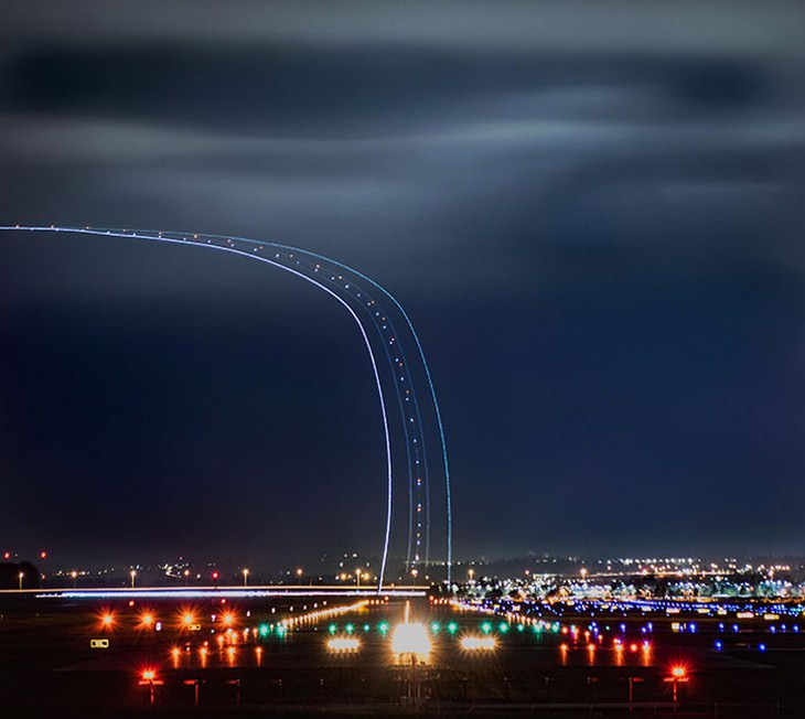 תמונות נדירות: נחיתת מטוס