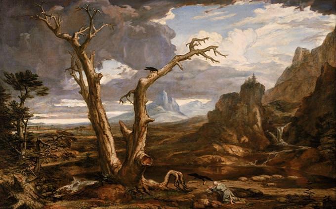 """ציטוטי תנ""""ך: ציור של אליהו הנביא בטבע"""