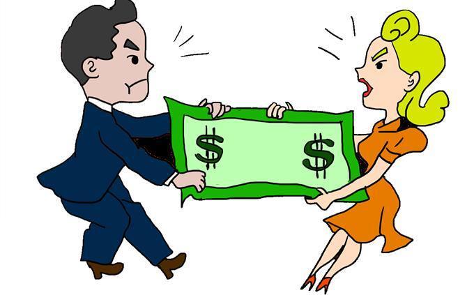 מבחן אישיות על התת מודע: צאיור של גבר ואישה רבים על כסף