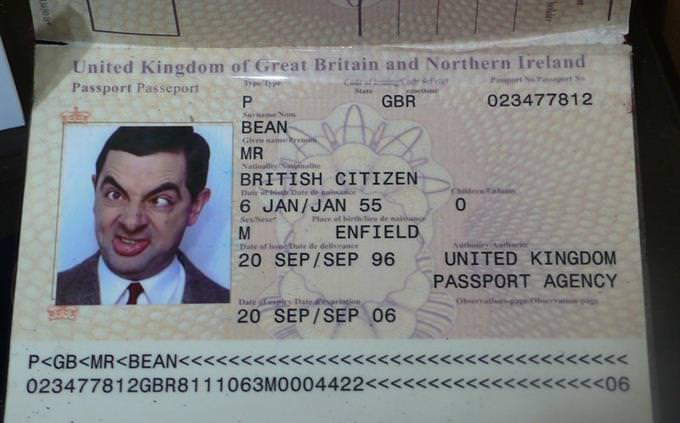 מבחן טריוויה: דרכון של מיסטר בין