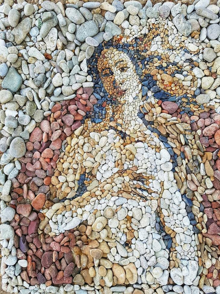 יצירות פיספס מקסימות מאבנים קטנות: ונוס