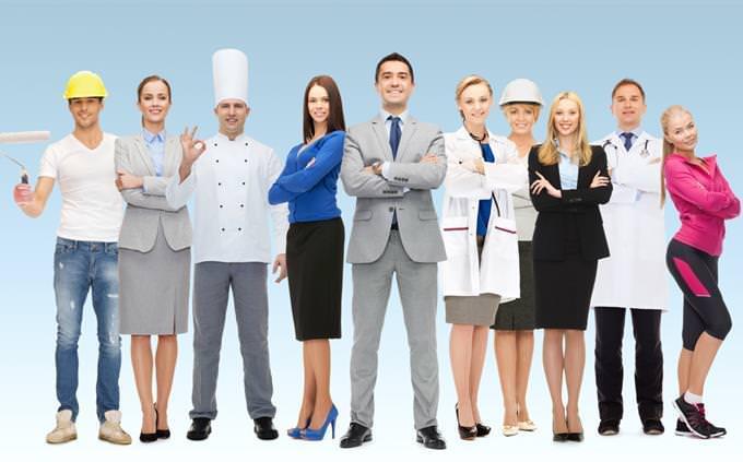 מבחן אישיות: אנשי מקצוע שונים