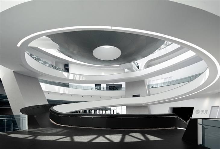 מוזיאון האסטרונומיה הגדול בעולם בשאנגחאי: פנים בניין המוזיאון האסטרונומי