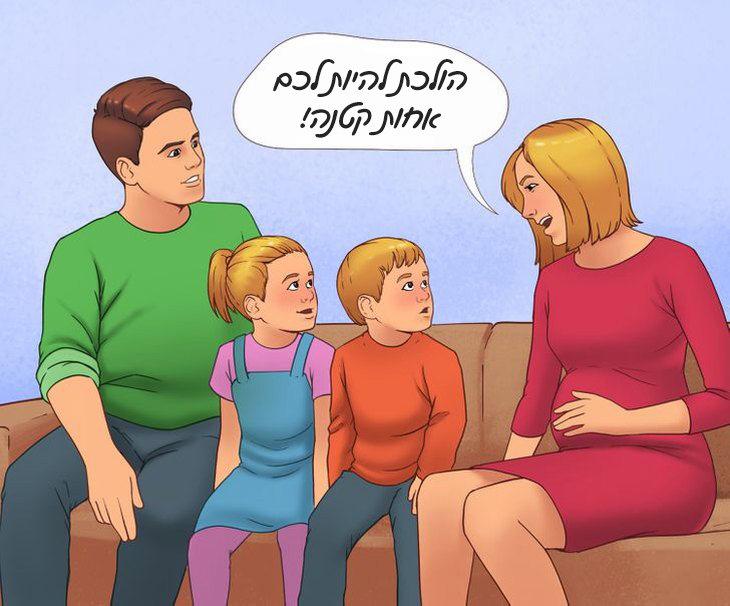 איך לגרום לילדים להפסיק לריב: הורים מספרים לילדיהם שעומדת להיוולד להם אחות