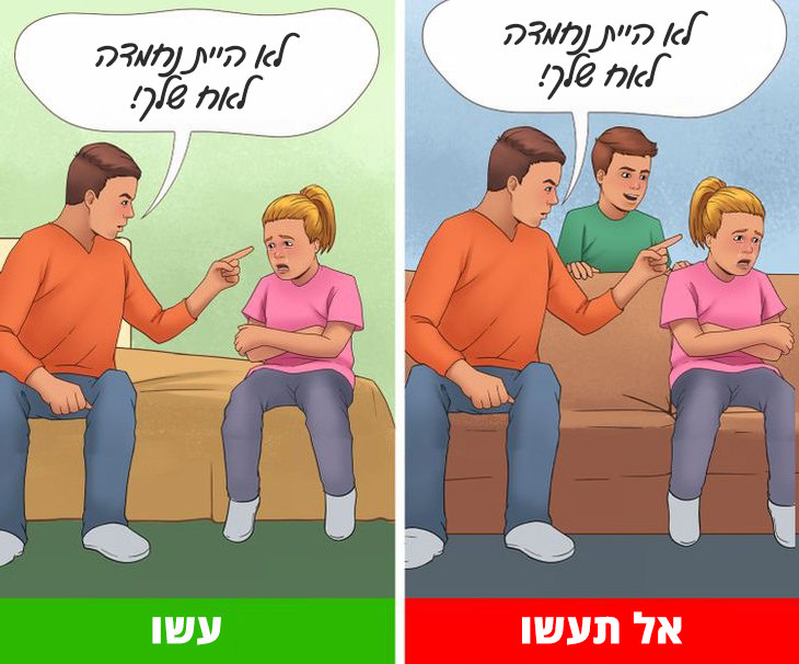 איך לגרום לילדים להפסיק לריב: הורה מעניש את בתו מול אחיה ובלעדיו