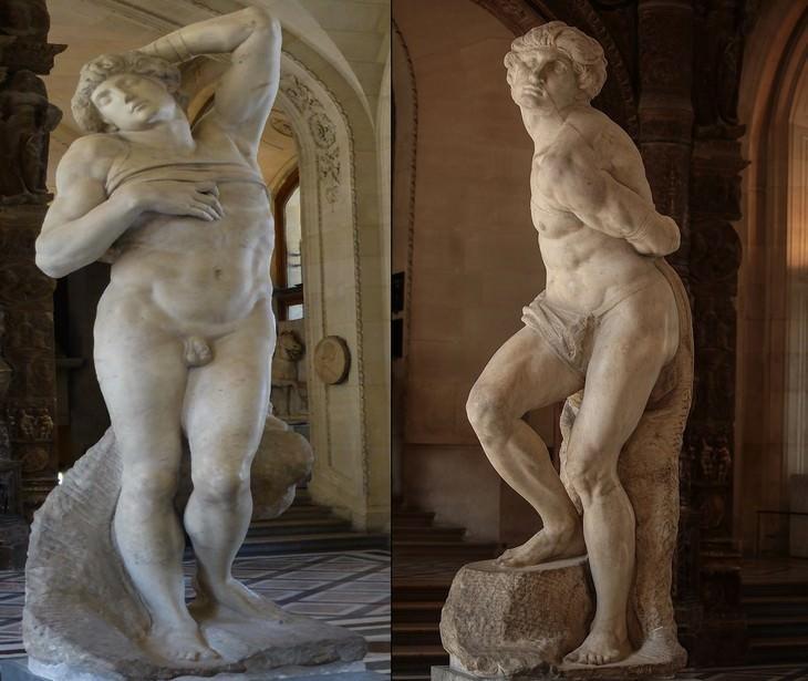 פסלים של מיכלאנג'לו: העבד המורד והעבד הגוסס