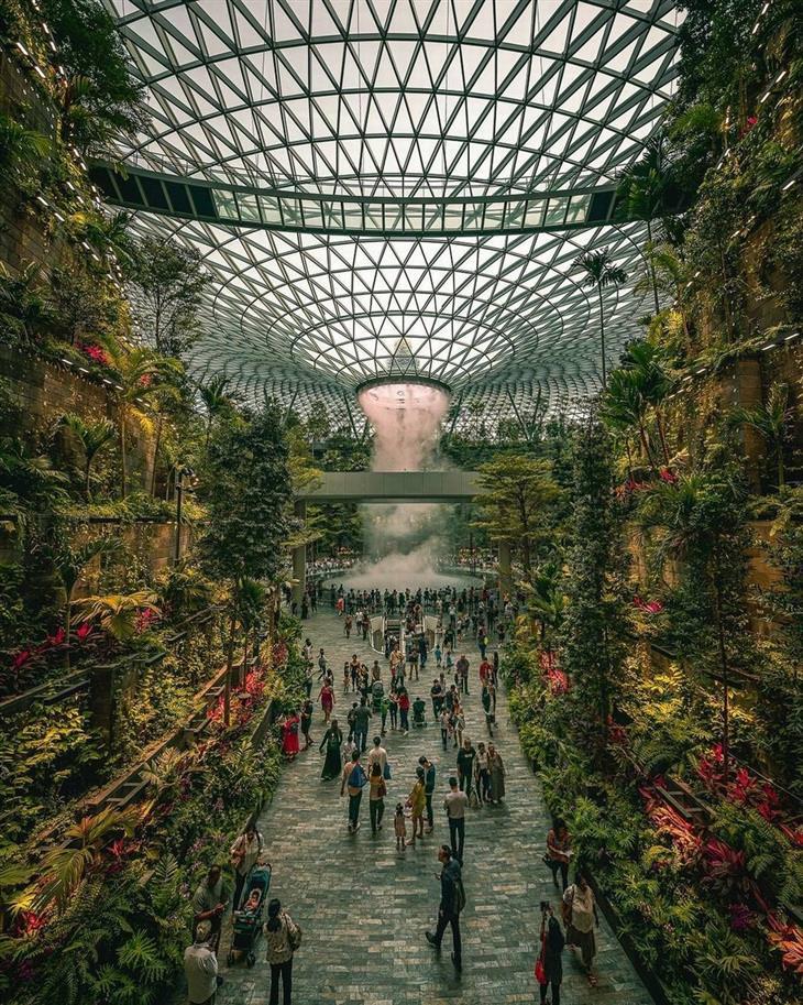 נופים יפים מרחבי העולם: נמל התעופה סינגפור צ'נגי