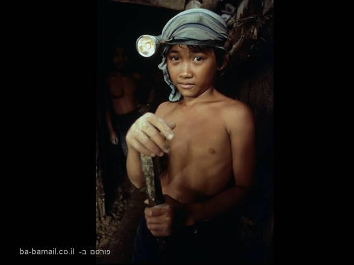 ילדים, עבדות, תנאי עבדות, ילדים עובדים, כורה,