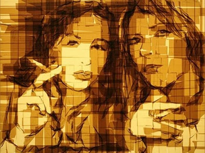 אומנות שכל כולה נייר דבק - לא להאמין!