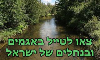 מפה אינטראקטיבית שתיקח אתכם ל-15 נחלים ואגמים יפים בישראל