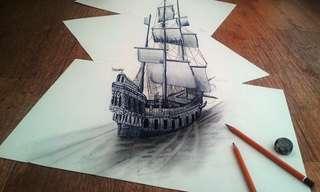 ציורי עיפרון בתלת מימד - אמנות מדהימה!