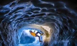 תמונות מדהימות של מערות קרח מסוכנות