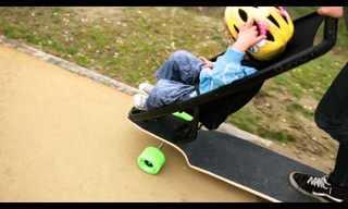 סקייטבורד-עגלה להורים ולילדים