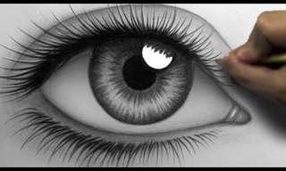 ציור מדהים של עין ריאליסטית!