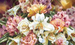 אמנות ציור הפרחים של דריל טרוט