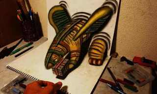 ציורי עיפרון מדהימים בתלת מימד!