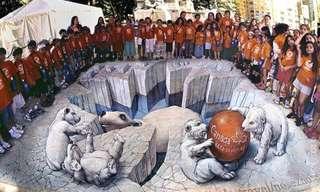 ציורי מדרכות בתלת מימד מכל העולם - מהמם!!!