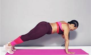 אימון קצר ומהנה לחיזוק שרירי הליבה והזרועות