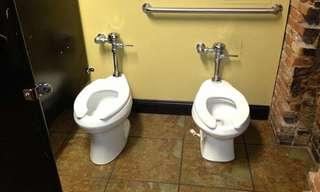 חדרי שירותים משונים ומצחיקים