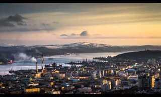 יום בחיי העיר הרוסית מורמנסק