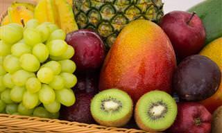 פירות וירקות בעלי ערך קלורי גבוה