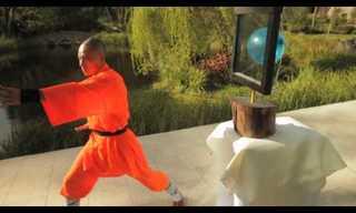האם ניתן להשחיל מחט דרך זכוכית? פעלול מדהים של נזיר שאולין!